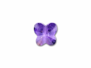 6x6mm CZ Amethyst Faceted Butterfly Beads