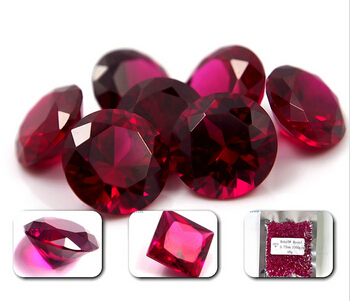 Corundum_Synthetic_Ruby_5#_Round_Brilliant_Cut_Wholesale