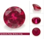 Synthetic Ruby 5# color round cut stoneswholesale