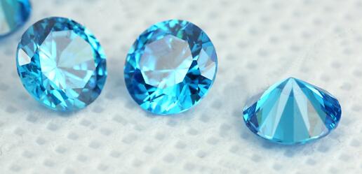 CZ light aqua blue Color stone