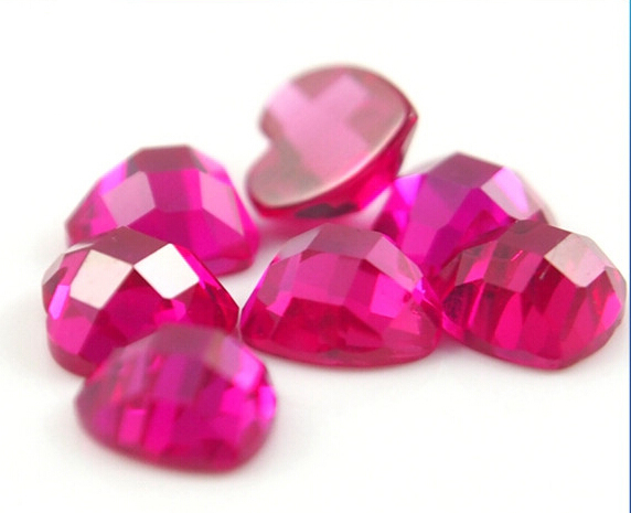 Flat-back-Checker- Board-Heart-Shaped-Corundum-Ruby-Stone-China-Suppliers