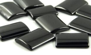 Black-Color-Cubic-Zirconia-Rectangle-Cabochon-Gemstones-Wholesale-China-WUzhou