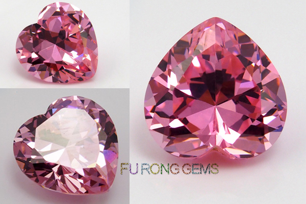 Pink-Color-Cubic-Zirconia-Heart-Shape-Gemstones-China-wholesale