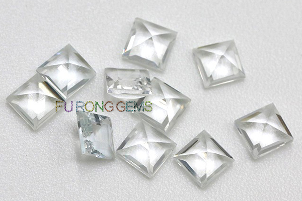 Natural-Real-White-Topaz-Square-3x3mm-10x10mm-Gemstones-China-Supplier