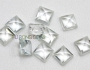 Natural Real White Topaz Square 3x3mm-10x10mm Gemstones from China