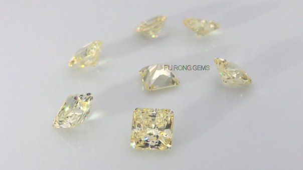 Radiant-quadrillion-cut-canary-yellow-cubic-zirconia-gemstones-wholesale