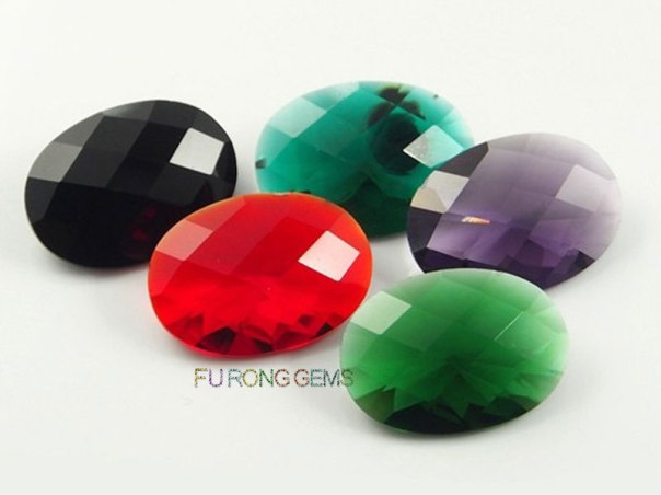 Checkerboard-faceted-Cut-Oval-Shape-10x12-Glass-Gemstones-for-sell