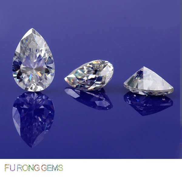 Loose-Moissanite-Pear-Shape-EF-White-Color-Gemstones-China-wholesale