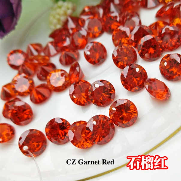 Cubic-Zirconia-Garnet-Red-Colored-CZ-Round-diamond-faceted-cut-with-drilled-holes-suppliers