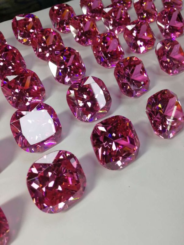 Cushion-Shape-CZ-Pink-Color-30x30mm-Gemstones-Suppliers