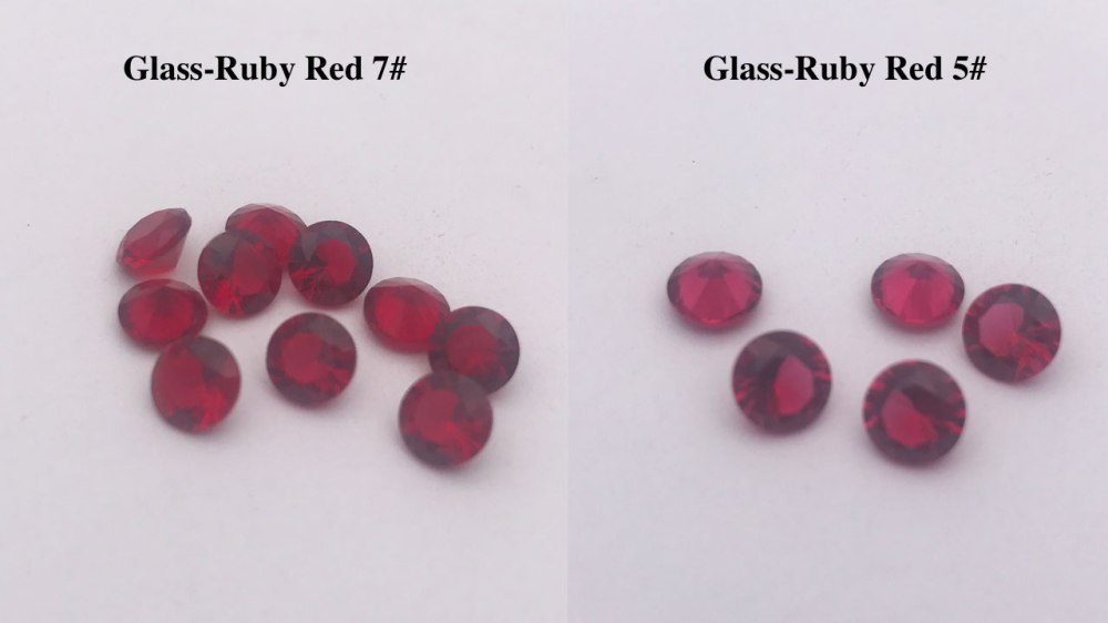 Glass-Stones-Ruby-Red-7#-Color-VS-Ruby-5#-Red-Color