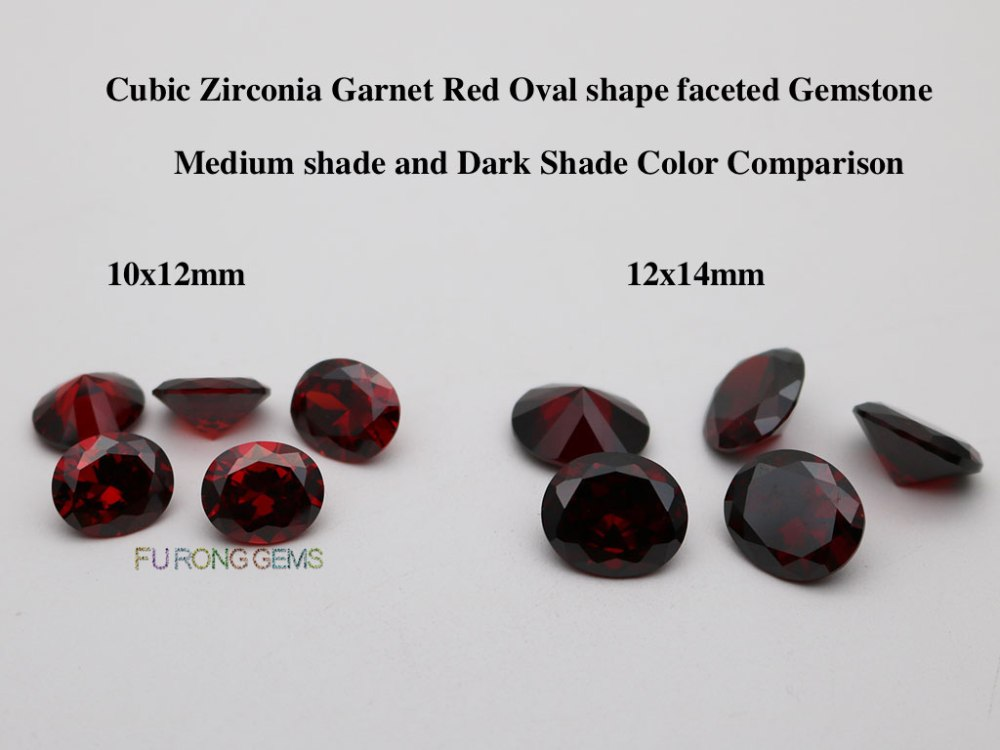 Cubic-Zirconia-Garnet-Red-Oval-shape-faceted-Cut-Gemstones-Medium-Dark-Color
