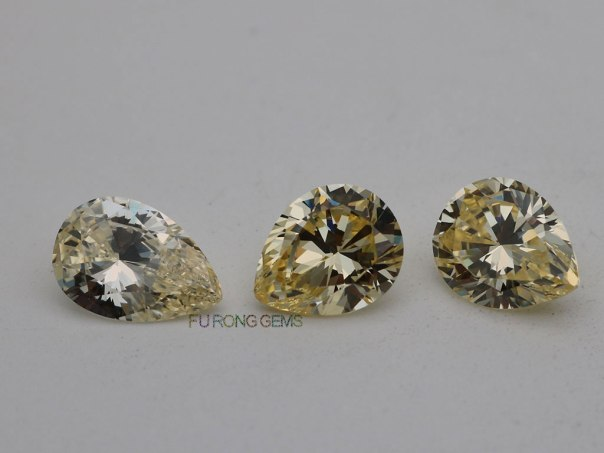 Canary-Yellow-Color-Cubic-Zirconia-highest-quality-pear-shape-faceted-Cut-Stones-Manufacturer-in-China